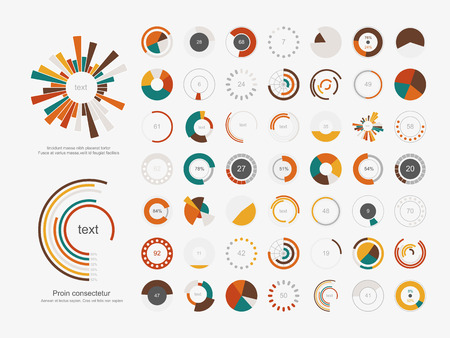 graphic business diagram collection: Infographic Elements.Pie chart set icon.