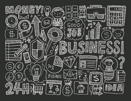 doodle business element Vector