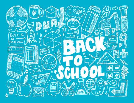 edu: hand draw school element Illustration