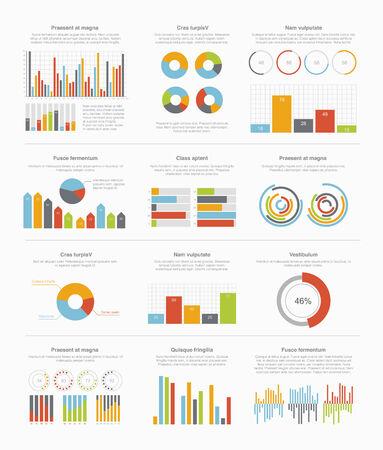 analyze data: Infographic elements big set Illustration