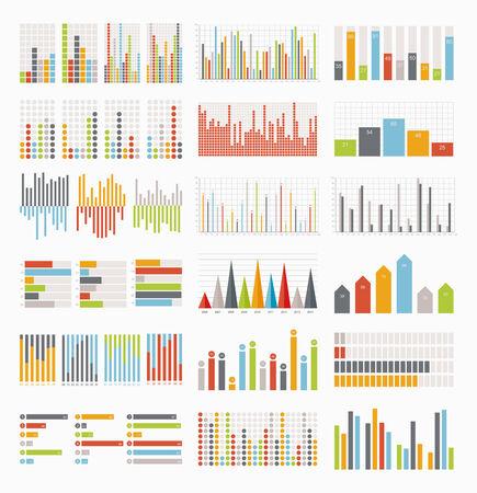 Grote reeks van infographics elementen Vector Illustratie