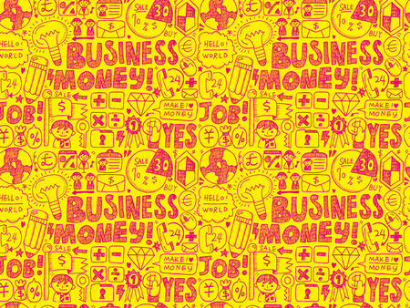 doodle business seamless Vector
