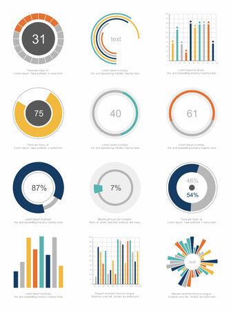 pie: set of infographic Elements