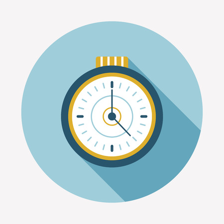 interval: watch flat icon with long shadow