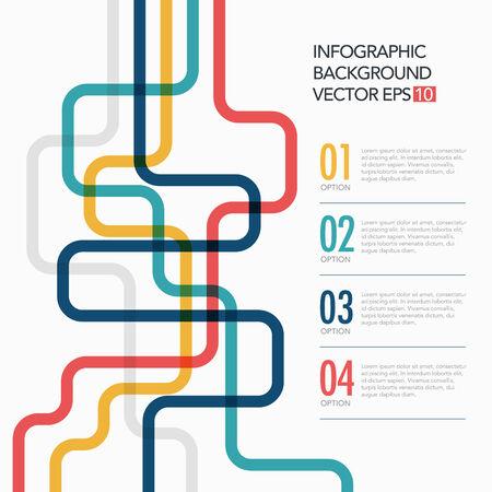 dominance: Vector de la l�nea plantilla concepto de negocio Vectores