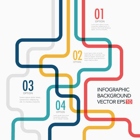 Vector line business concept template Vector