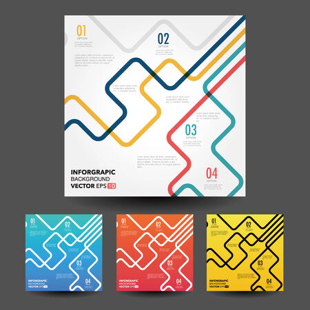 line business concept template Vector