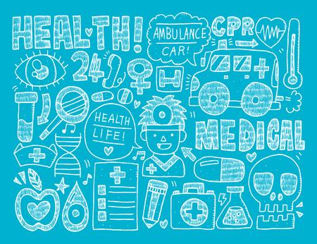 doodle medical background Vector
