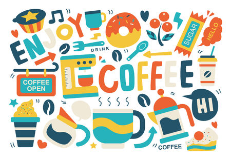 espreso: coffee background Illustration