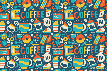 espreso: seamless coffee pattern