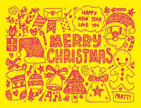 Doodle Christmas background