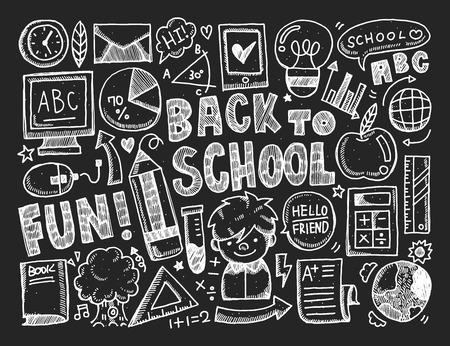 手描き落書き学校要素