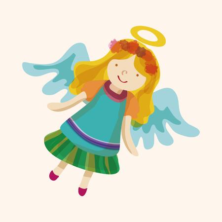 baby angel: Angelo cartoon vettore elementi di design