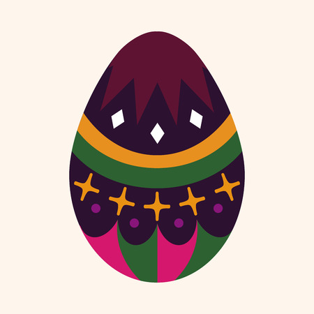 easter egg flat icon element Vector