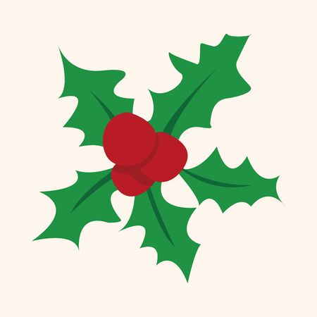 pine wreaths: Christmas wreath flat icon element Illustration