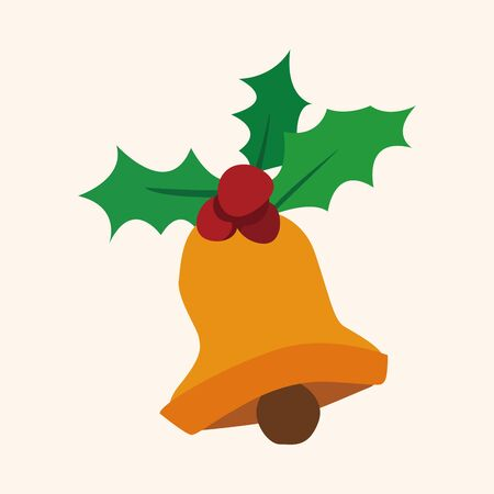 christmas bell: Christmas bell flat icon element Illustration