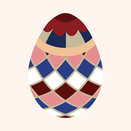 easter egg flat icon elements background