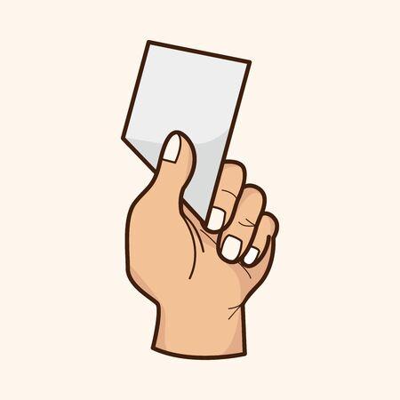 hand holding paper: mano elemento tema carta tiene Vettoriali