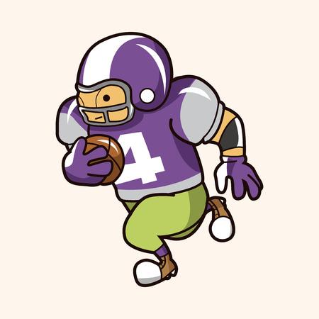 football player theme element