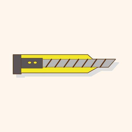 utility knife: stationary utility knife theme elements vector