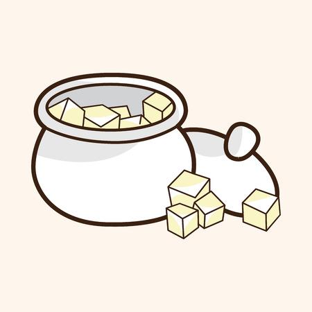 sweetener: Sugar cubes theme elements vector
