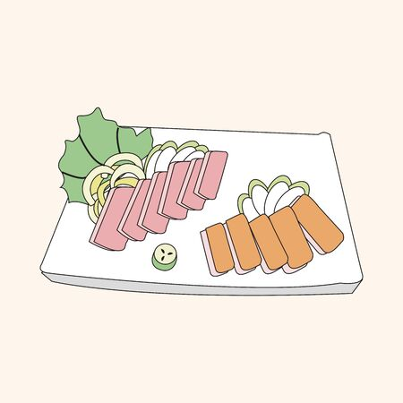 sashimi: japanese food theme Sashimi elements vector
