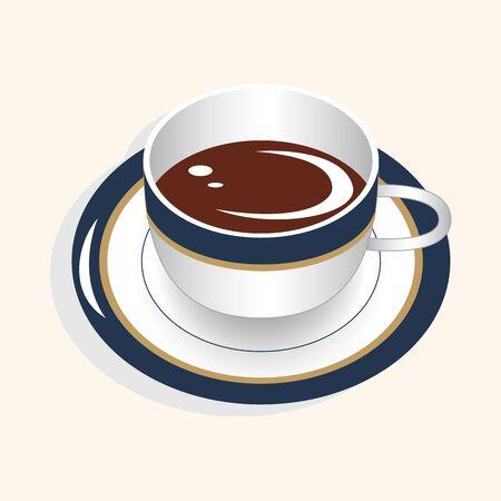 coffee theme elements vector,eps