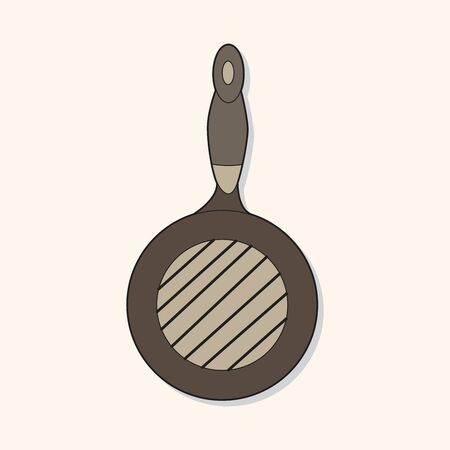 hand shovels: Kitchenware pan theme elements vector