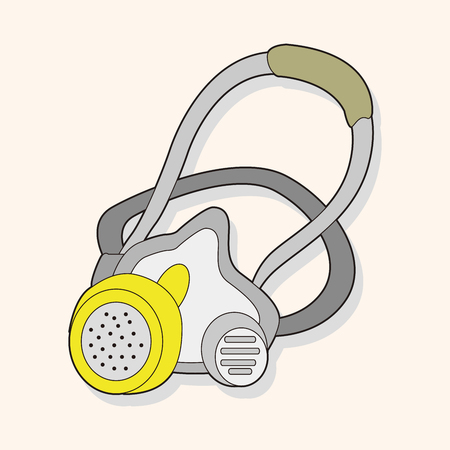 work tool: work tool gas mask theme elements vector