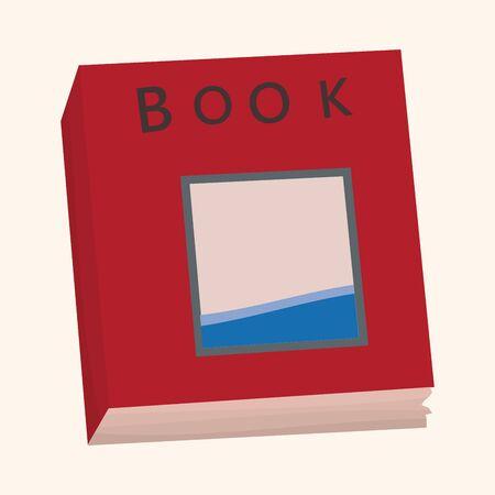 read magazine: book theme elements vector Illustration