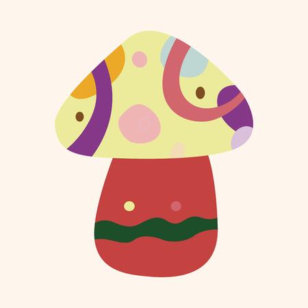 mushroom cartoon: mushroom cartoon theme elements vector