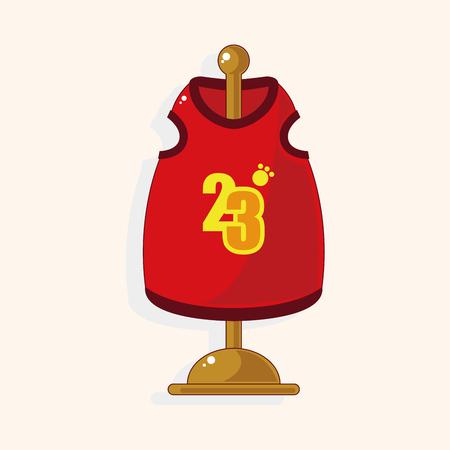 clothed: Pet Clothes theme element vector,
