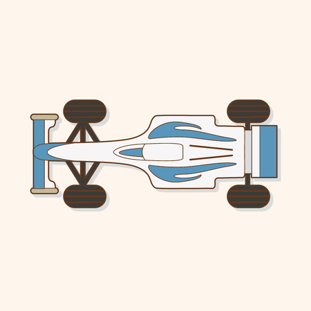 racing car: racing car theme elements vector
