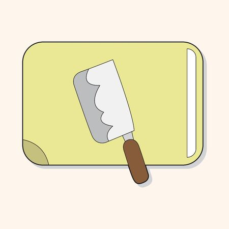 chopping: kitchenware chopping board and knife theme elements vector,eps Illustration
