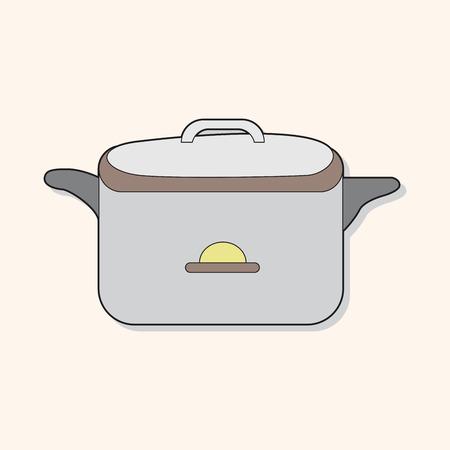 rice cooker: utensilios de cocina olla arrocera elementos tem�ticos vector