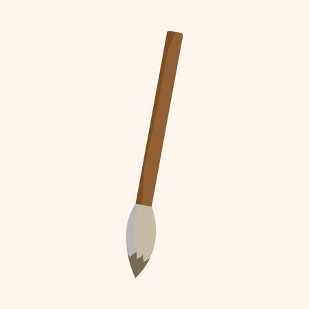 painting brush: work tool painting brush theme elements vector