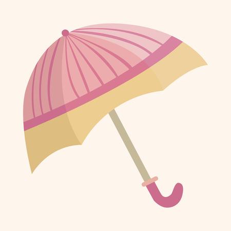 rainy season: Umbrella theme elements vector,eps