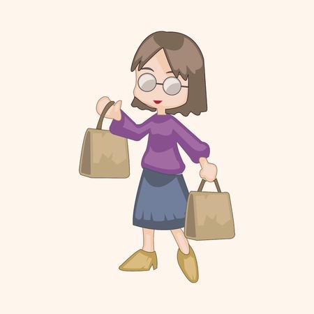 shopper: shopper theme elemets vector