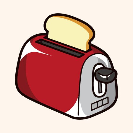 toasted: kitchenware toaster theme elements vector