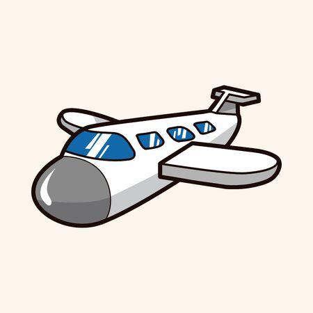 jet airplane: airplane theme elements vector Illustration