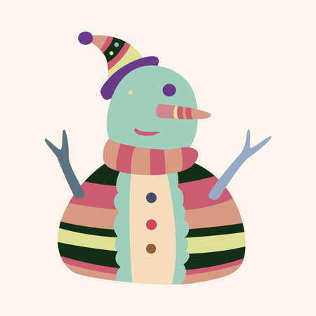 snowman cartoon: snowman cartoon elements vector
