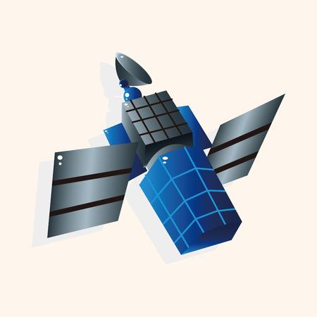Space Satellite theme elements vector Vector