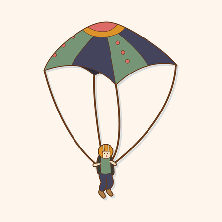 hang gliding: Hang gliding theme elements vector,eps