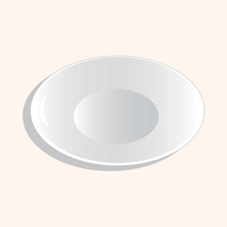 plate: kitchenware plate theme elements vector