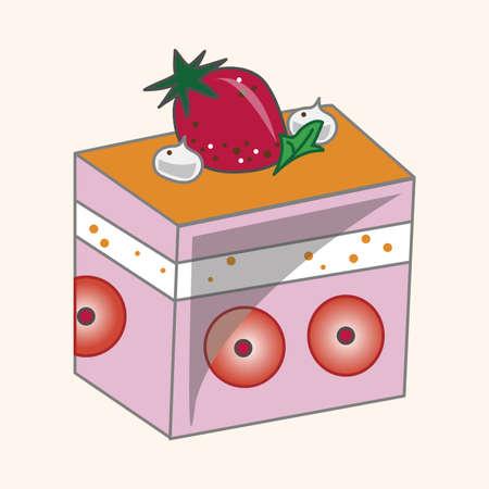 decorating: decorating cake theme element