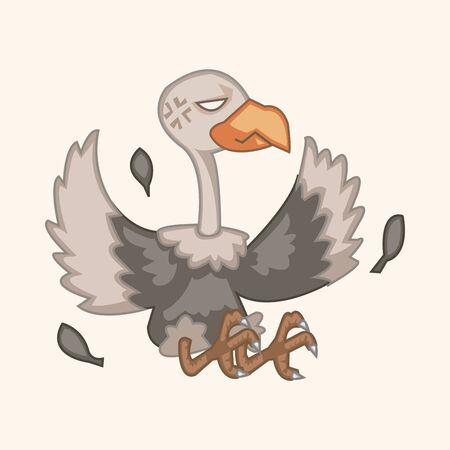 condor: condor bird cartoon theme element