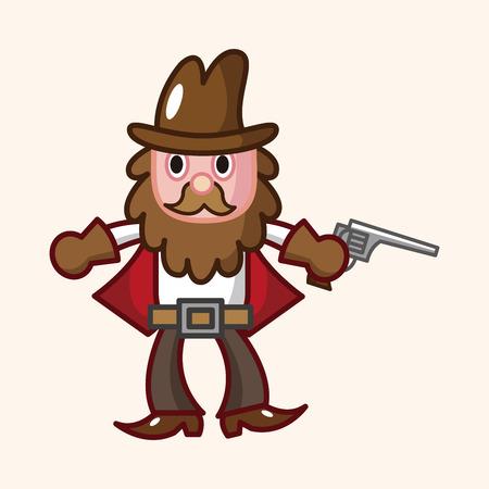 cowboy theme element Vector