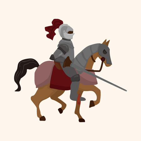 cartoon knight: knight theme element