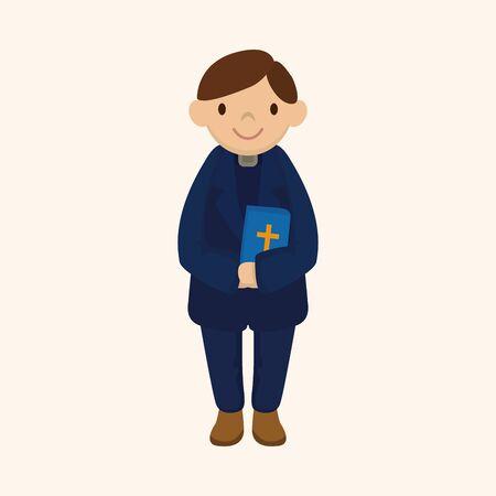 character illustration: pastor theme element Illustration