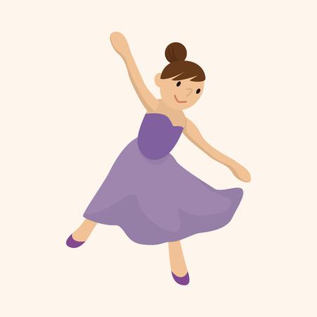 perform performance: dancer theme elements vector,eps